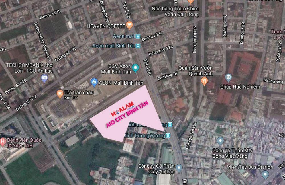 vị trí đắc địa của dự án căn hộ aio city